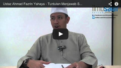 Ustaz Ahmad Fazrin Yahaya – Tuntutan Menjawab Salam Sambil Mendoakan Kebaikan Buat Pemberi Salam