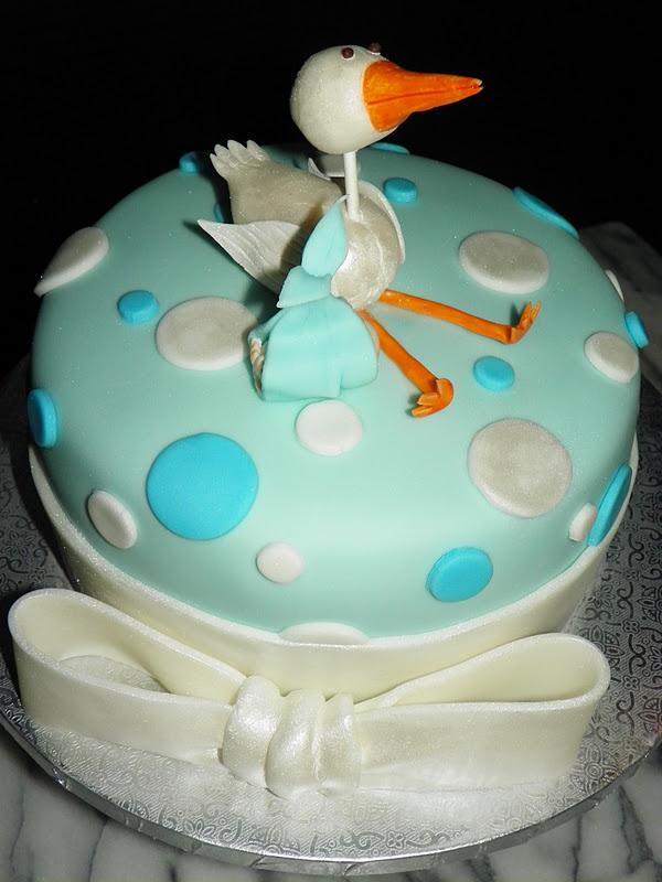 Baby Shower Cakes Stork ~ Plumeria cake studio stork with baby boy shower
