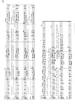 Choral poäng Piano Partitur