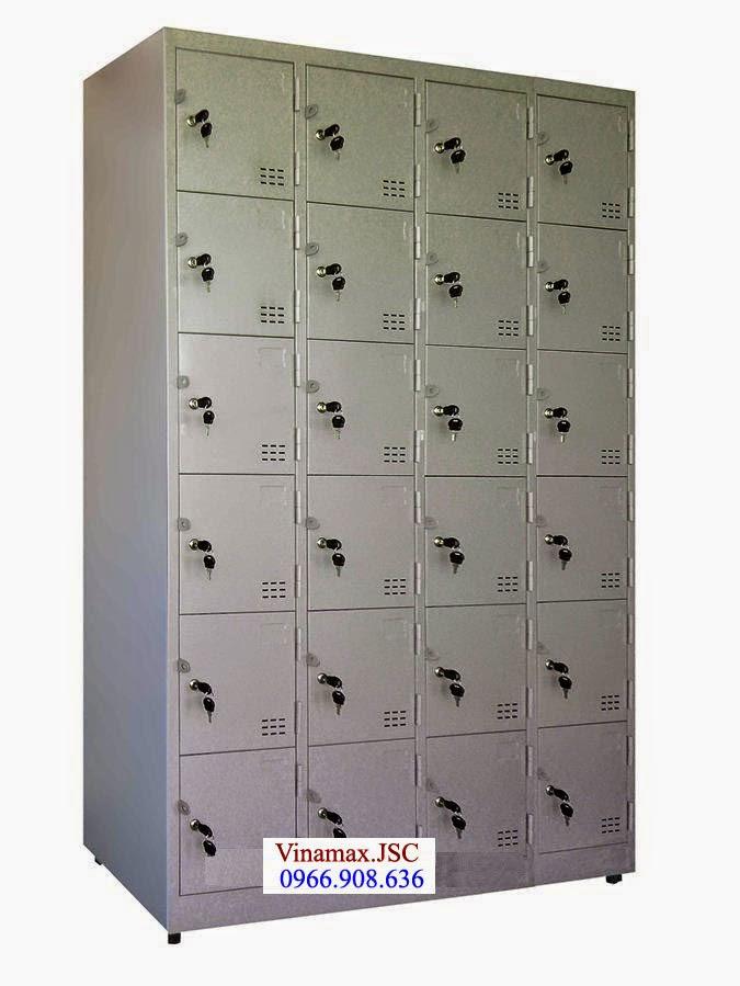 tủ sắt 24 ô để đồ