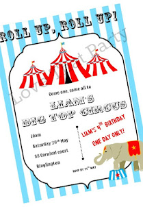 Circus Tent Stripe Invitation