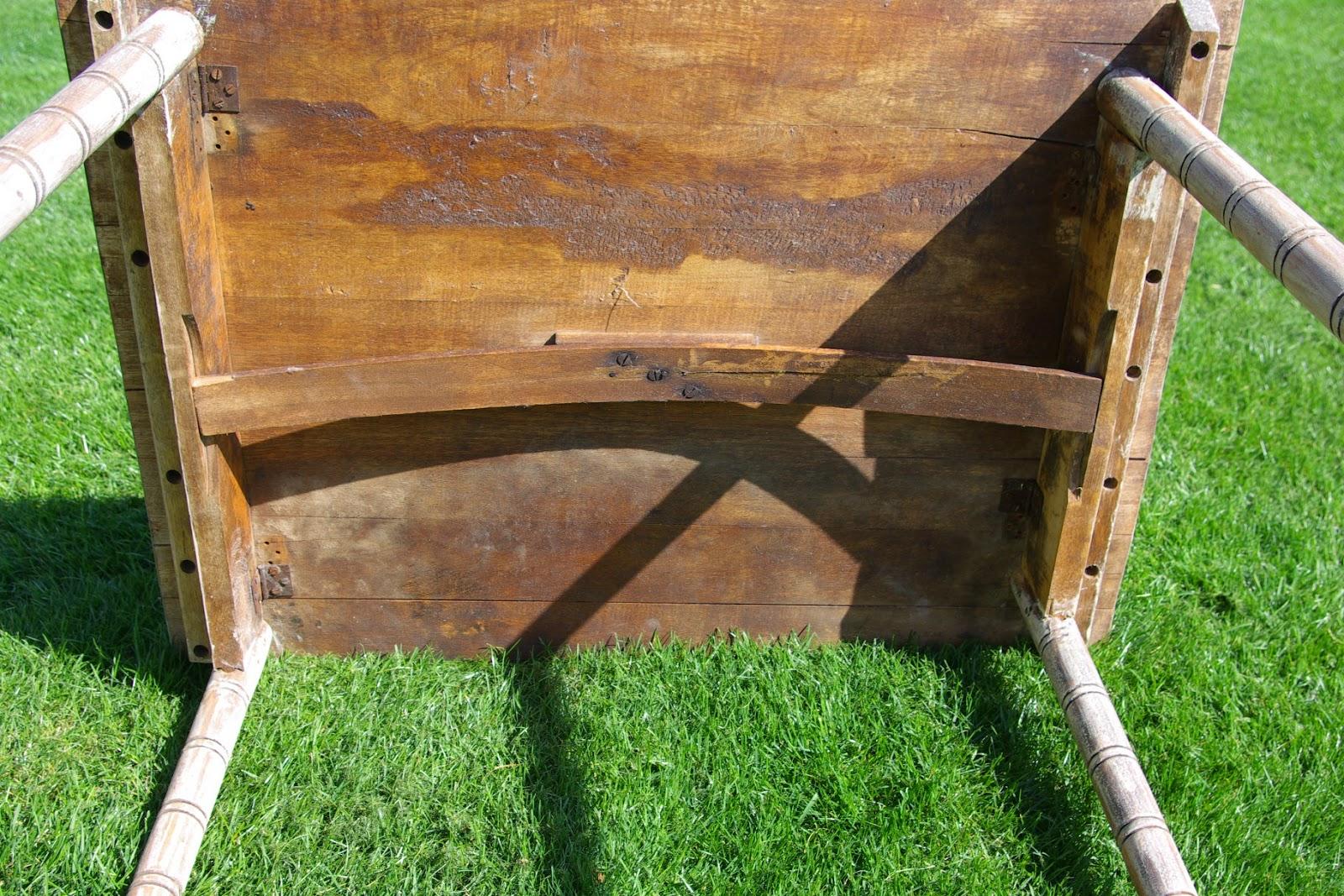 Reclaimed Rustics: Vintage Folding Wood Table