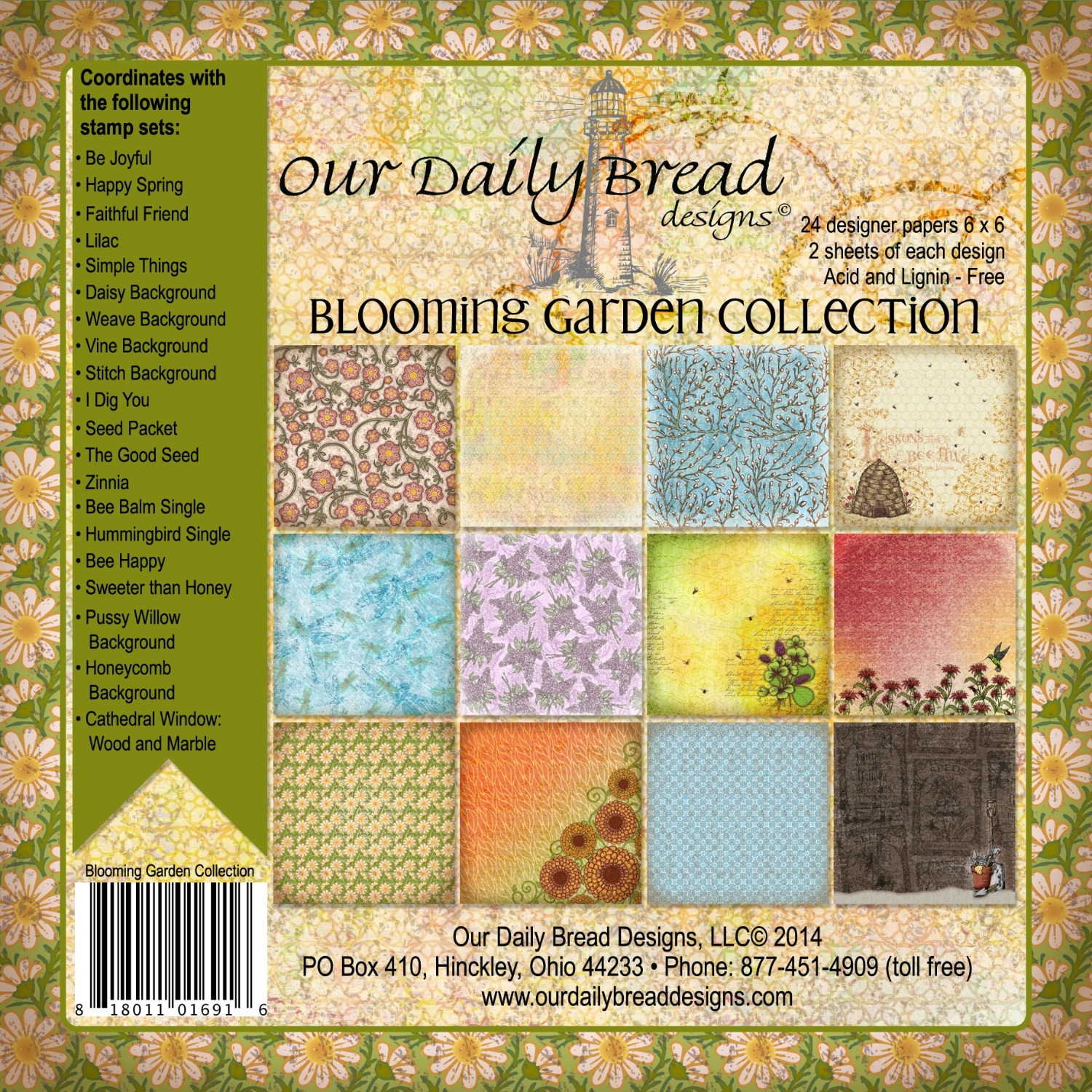 Our Daily Bread Designs Blooming Garden Paper Collection