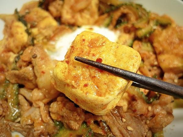 キムチのゴーヤチャンプルー 豆腐