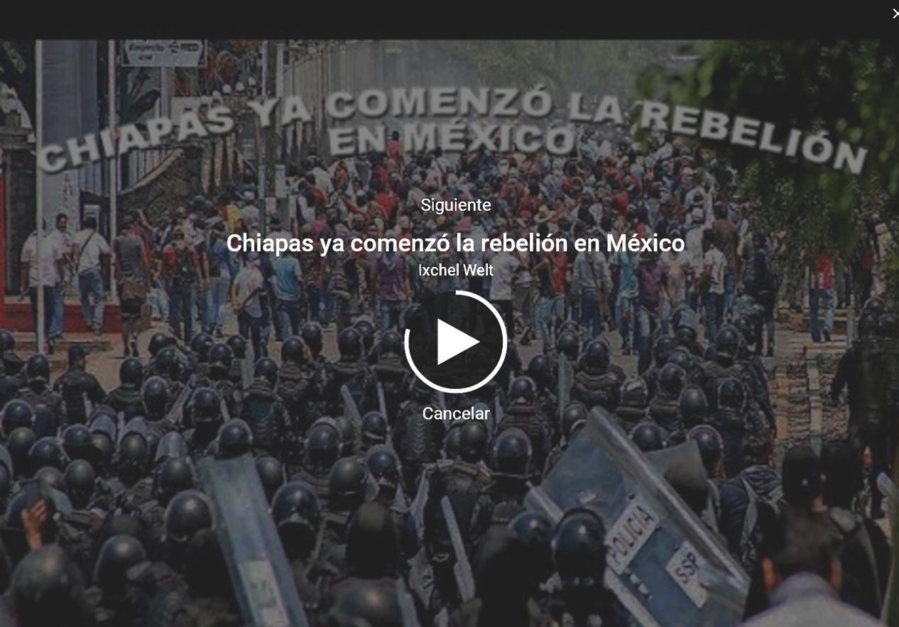 REPRESIÓN POLICIACA EN CHIAPAS VS LA CNTE