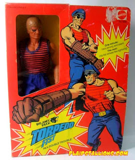 Mattel's Big Jim PACK Torpeedo Fist figure