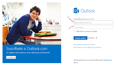 como inciar sesion en outlook