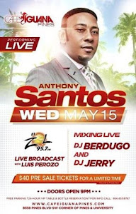 Anthony Santos@Cafe Iguana Pines, USA