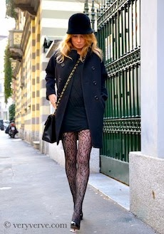 Patterned tights: