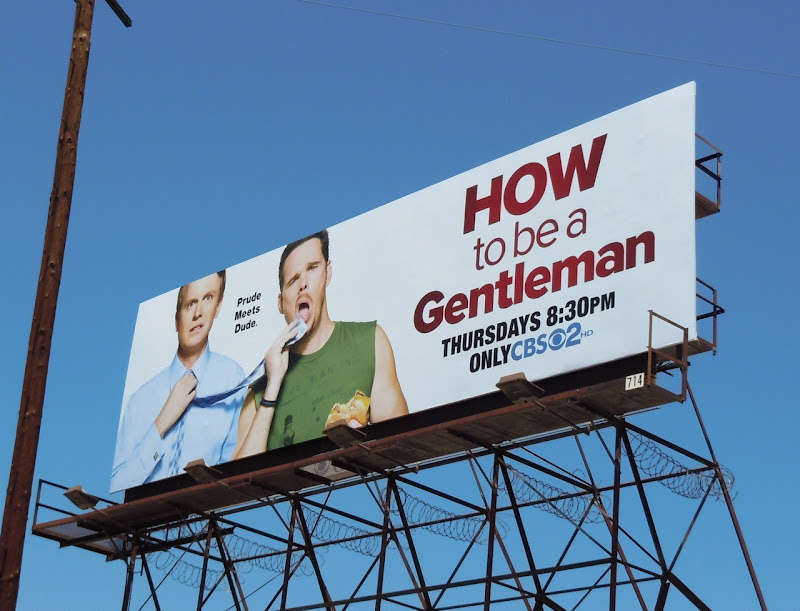 How to be a Gentleman CBS billboard