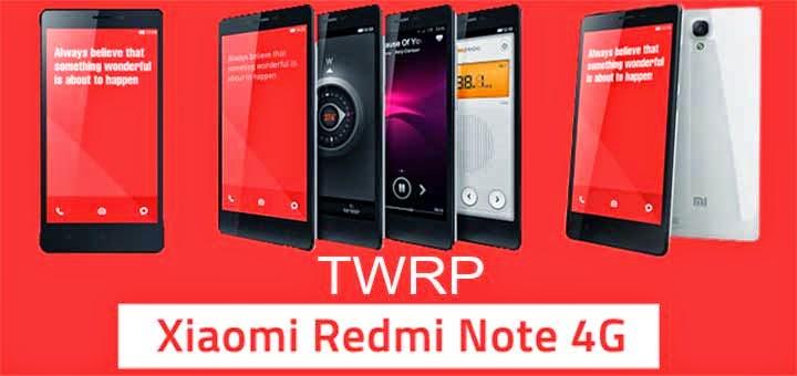 Cara Install TWRP Xiaomi Redmi Note 4G