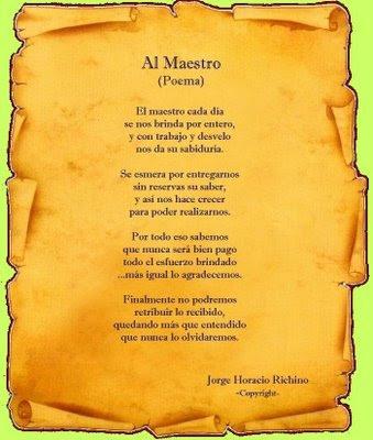 Poema Para El Maestro