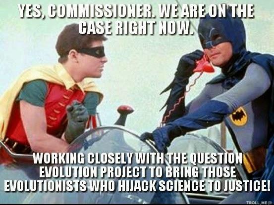 Batman, Robin, Creation Science, Biblical Creation, The Question Evolution Project, www.piltdownsuperman.com