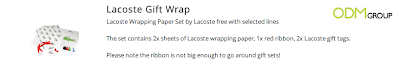 Customized Gift-wrap by Lacoste