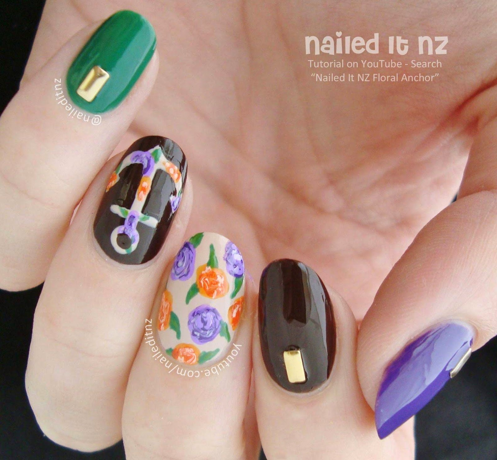 Floral anchor nail art tutorial an error occurred prinsesfo Choice Image