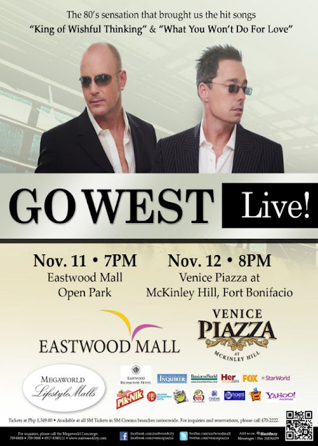 Go West LIVE in MANILA, Go West LIVE in MANILA Ticket Price