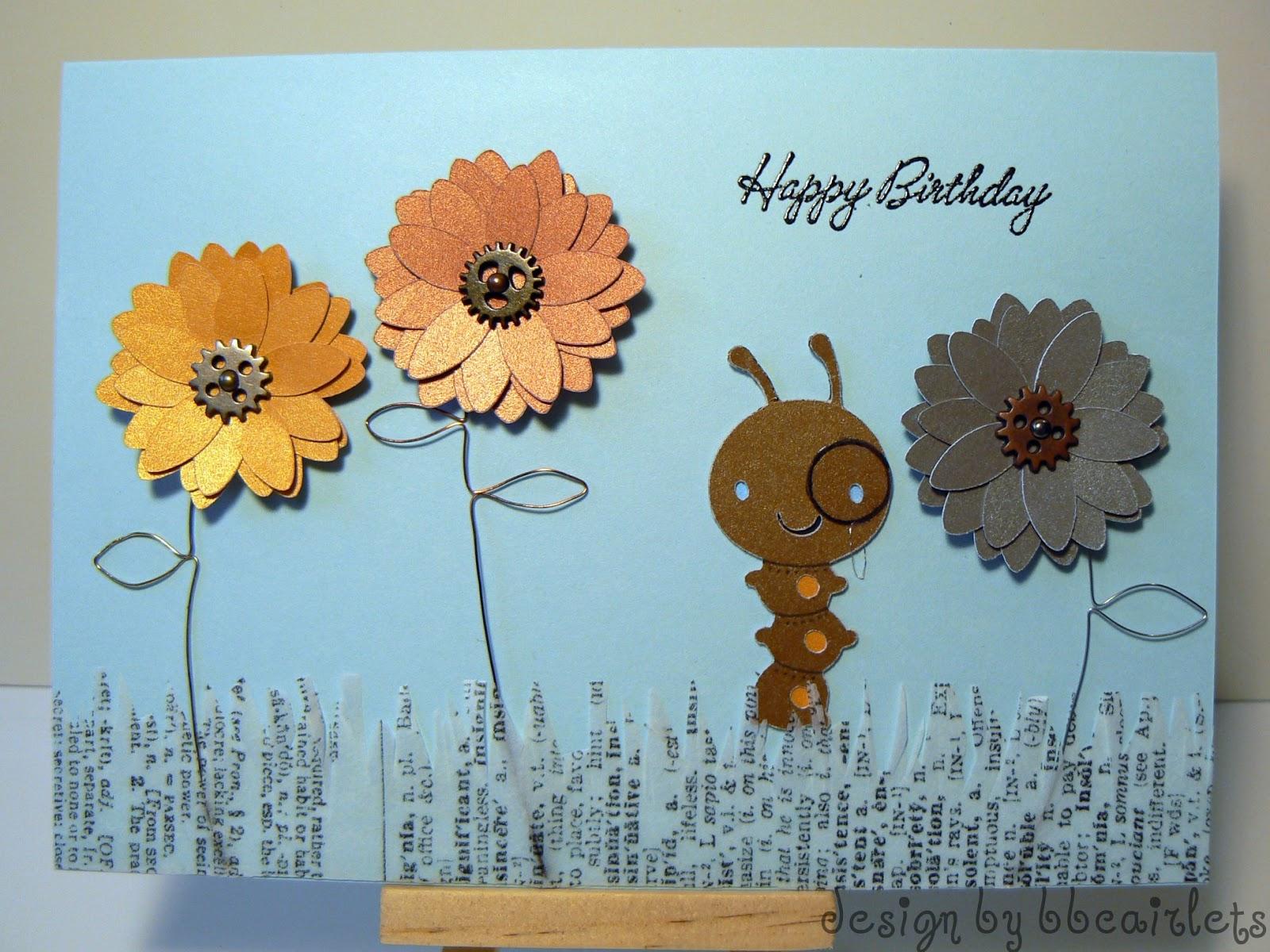 You Better Bling It Baby Steampunk Garden Birthday Card – Steampunk Birthday Card