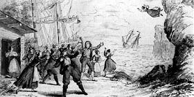 Final scene of Wagner's The Flying Dutchman in Dresden in 1843