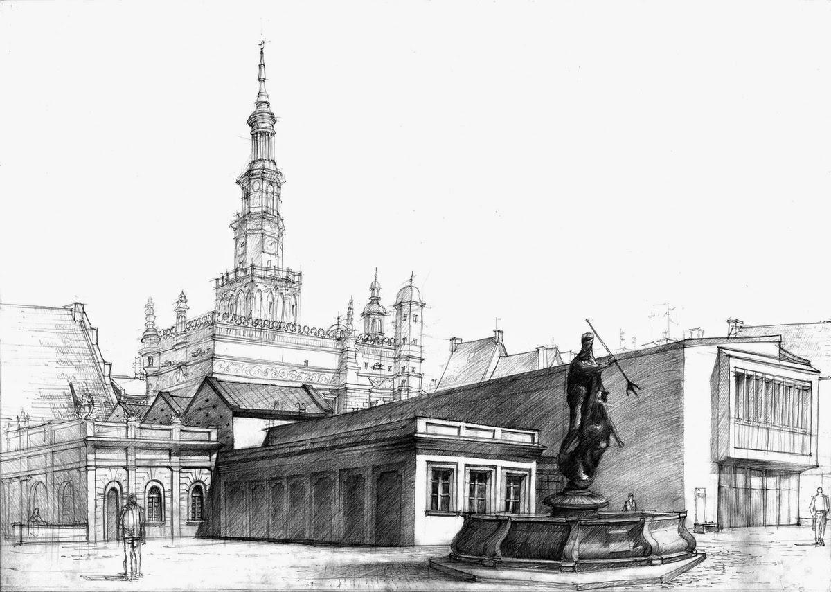 06-Domin-Poznan-Stary-Rynek-Łukasz-Gać-DOMIN-Poznan-Architectural-Drawings-of-Historic-Buildings-www-designstack-co