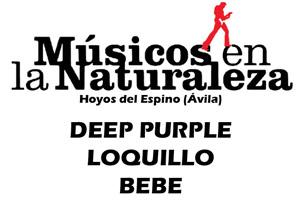 Músicos en la Naturaleza 2013. Hoyos del Espino. Deep Purple. Loquillo. Bebe