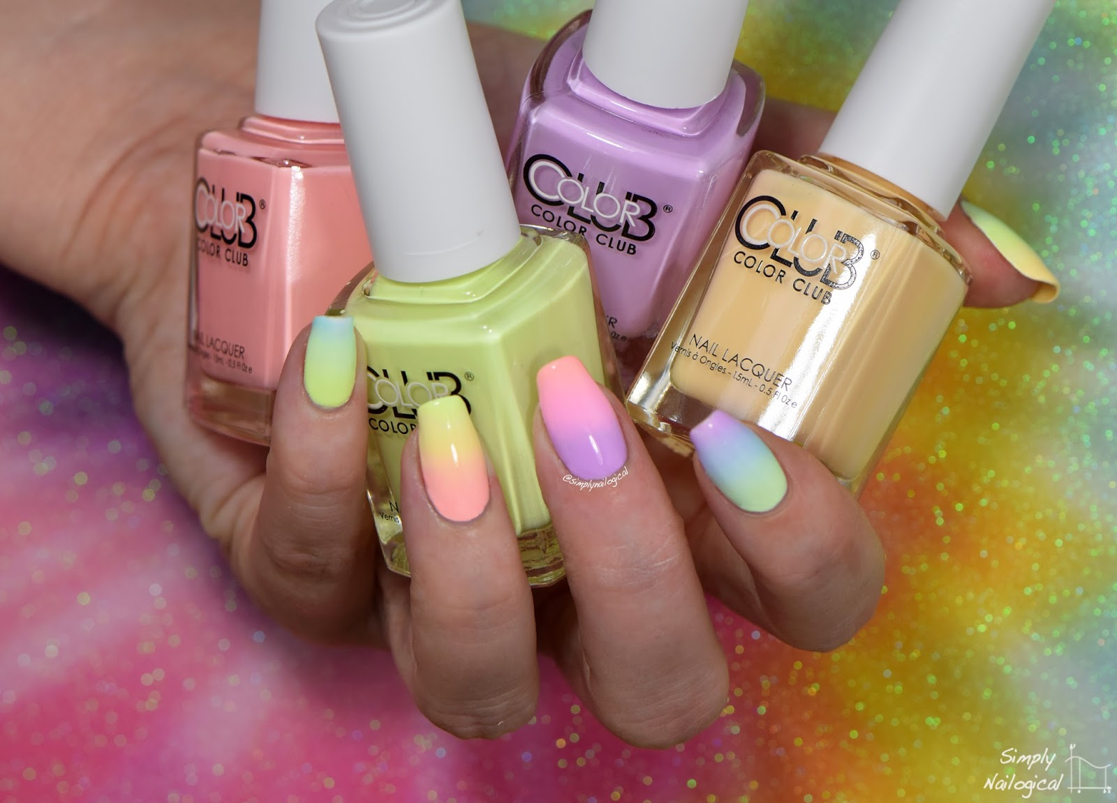 Color Club Poptastic Pastel neon collection