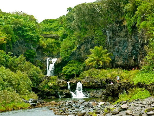 Beautiful view on the Oheo Gulch pools in Maui