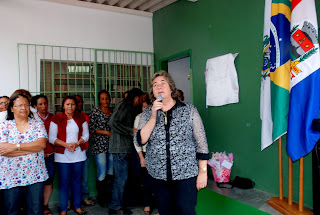 """Secretária de Desenvolvimento Social Graça Granito (ao microfone): """"meta é abrir dois CRAS no interior do município"""""""