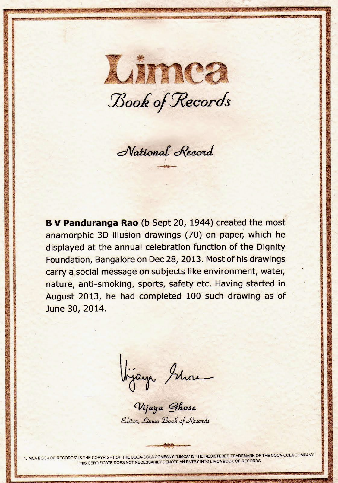 In Limca Book of Records