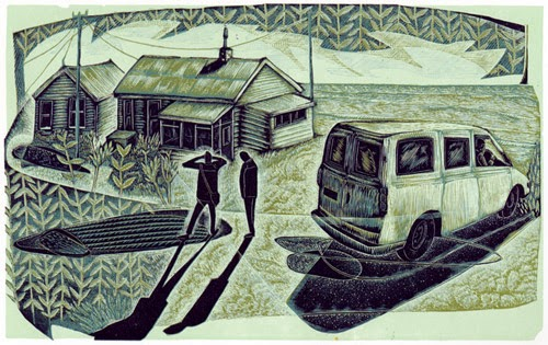 What's 'er names house : wood engraving by Neil Bousfield