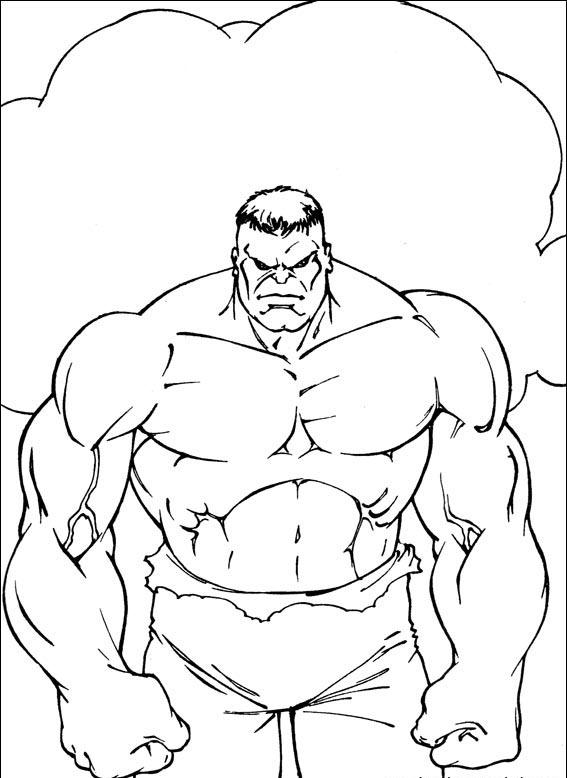 Dibujos animados para colorear: Hulk para colorear