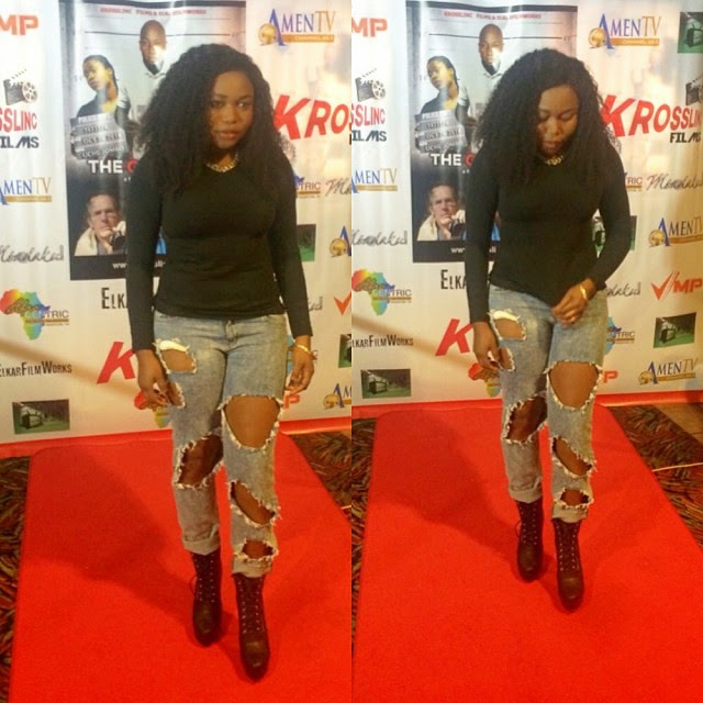 Ruth Kadiri at the premiere of New Movie The Other Side
