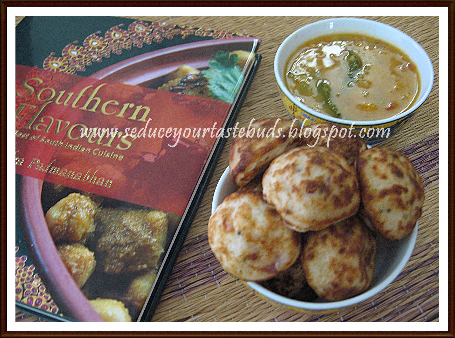 Southern flavors book review seduce your tastebuds this is a savoury rice dumpling from tamil nadu it is similar to the chettinad kuzhi paniyaram this is a perfect recipe to use up the left over idli forumfinder Gallery