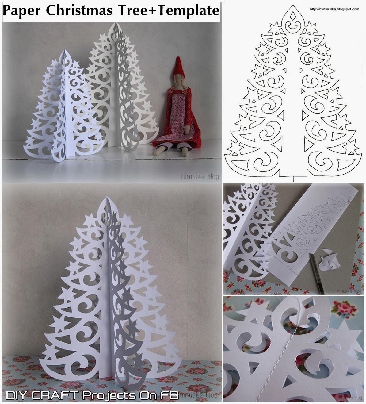 Paper Christmas Tree Wall Decoration : Christmas trees on