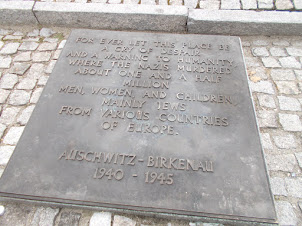 "Memorial plaque at ""Auschwitz II-Bikenau"" Concentration camp."