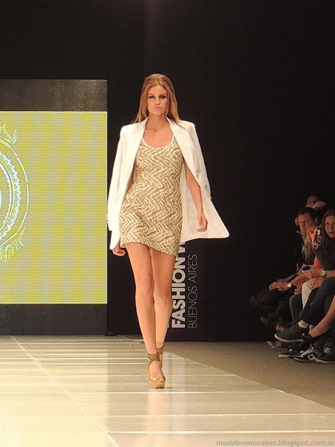 Claudio Cosano vestidos 2014 moda Argentina.