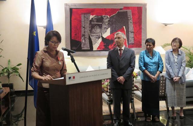 Mme KIM Sathavy et M. Jean-Claude POIMBOEUF