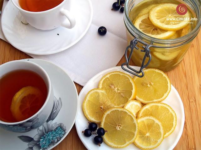 Cytryny w rumie do herbaty