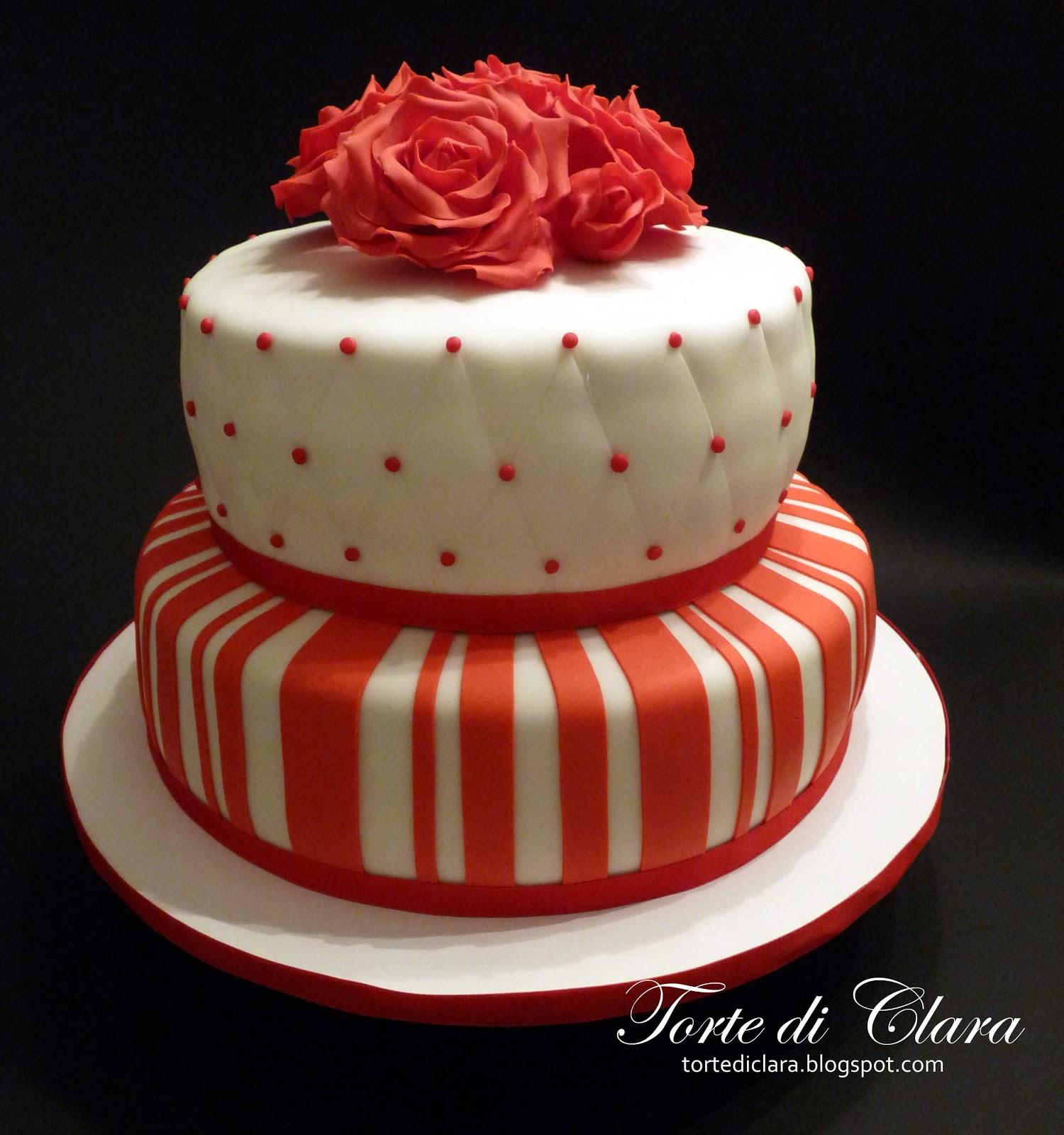 Torta Cake Design Dentista : Torte di Clara: Rose Cake (10)