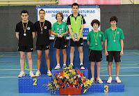 Podio juvenil dobles masculinos 2013