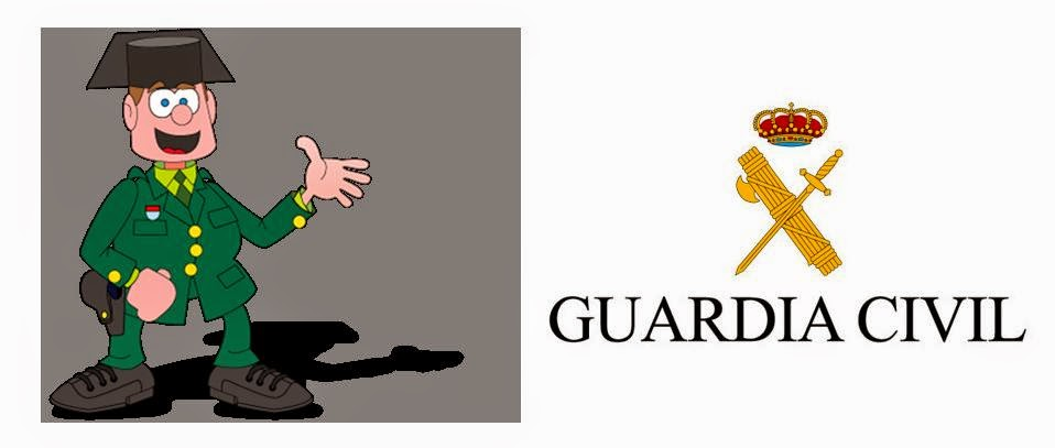 dibujos para colorear guardia civil