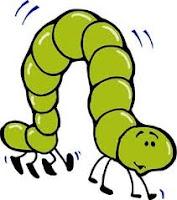 dibujo de gusano verde