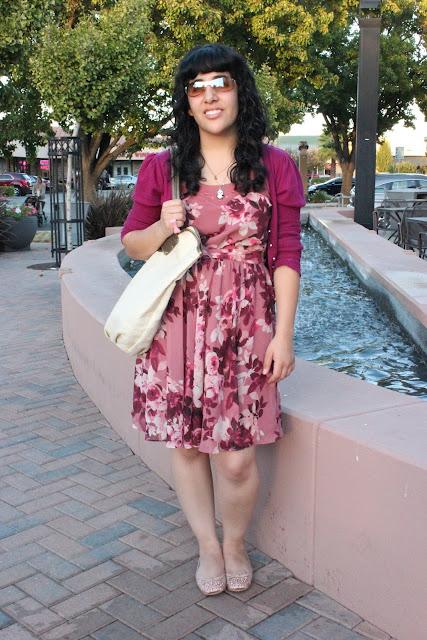 Rose Petal Print Dress