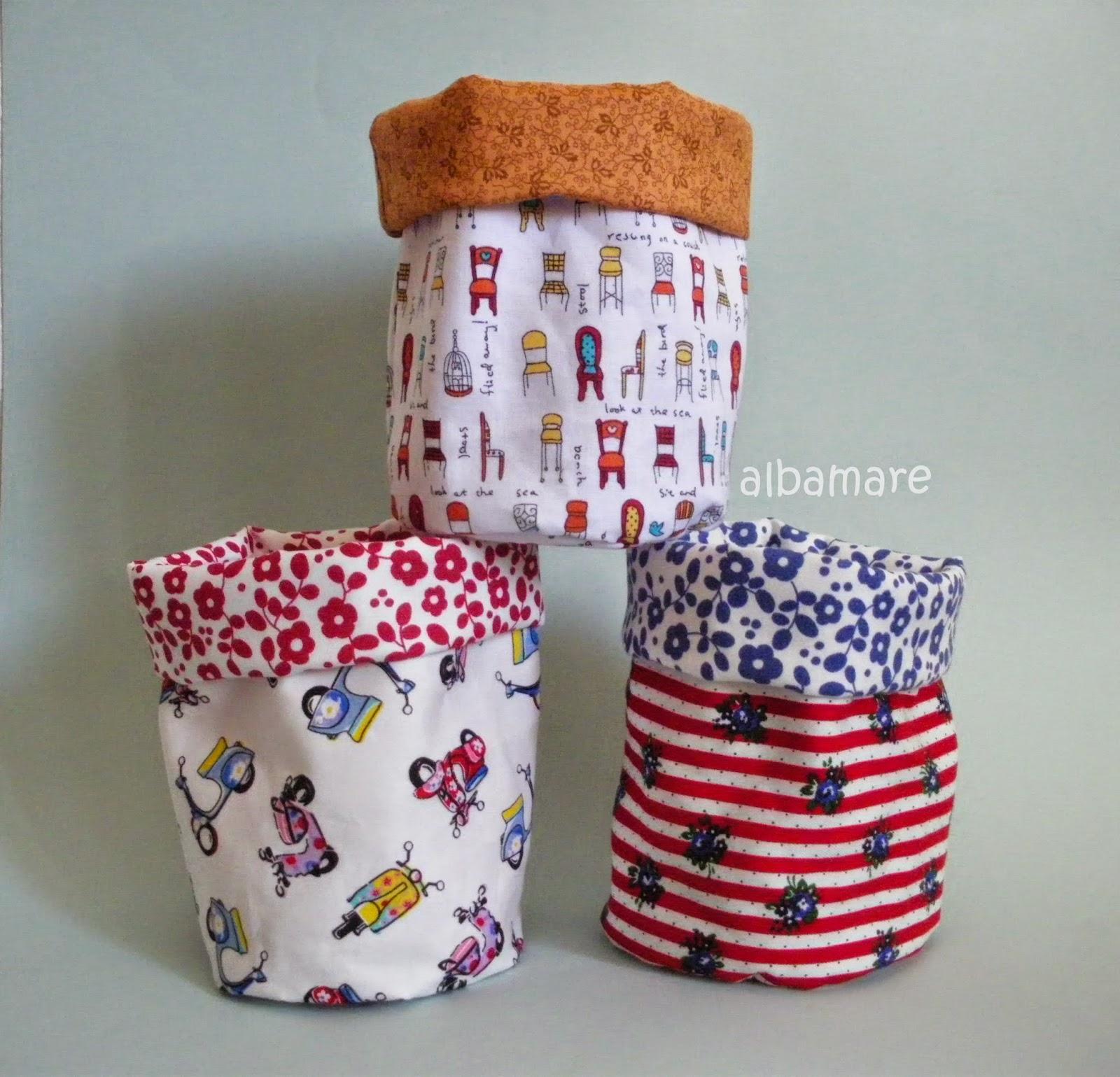 Albamare manualidades handicrafts costura para torpes - Cestos de tela ...