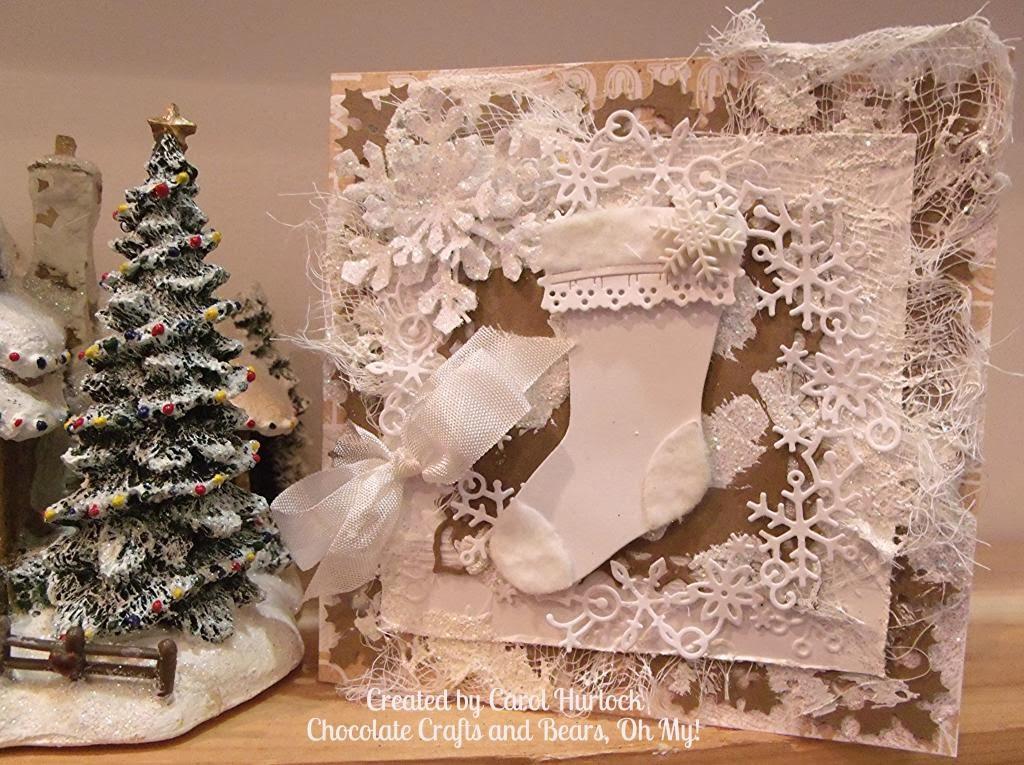 cottagecutz shabby chic christmas stocking