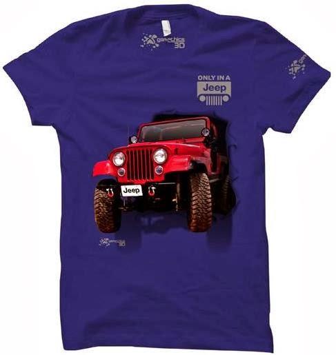 kaos 3d jeep blue