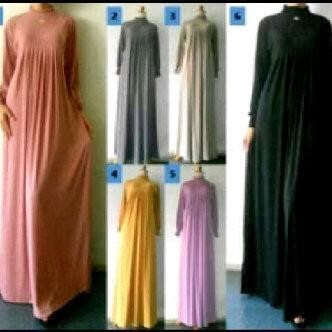 Gamis Jersey Rempel Blossom Dress | azzahidahcollections.com