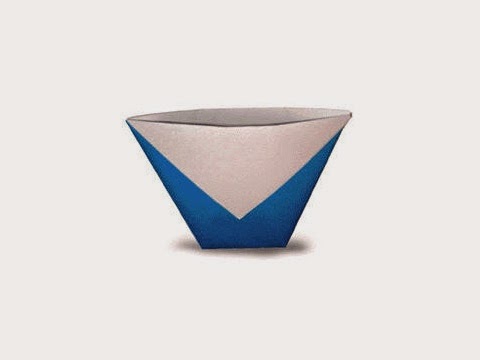 Hướng dẫn cách gấp cái cốc, ly bằng giấy đơn giản - Xếp hình Origami với Video clip - How to make a Cup