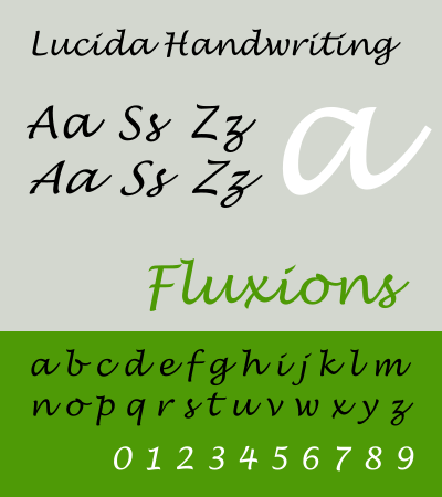 Lucida Handwriting Free