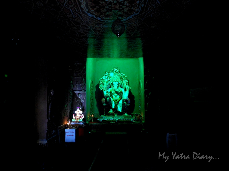A decorative Lord Ganesha, Ganesh Pandal Hopping, Mumbai