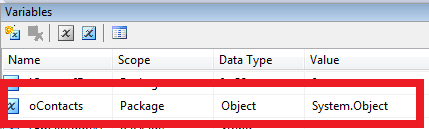How to Loop through each record in a SSIS in-memory ADO Recordset Table 3